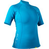 NRS W's HydroSkin 0.5 S/S Shirt Azure Blue